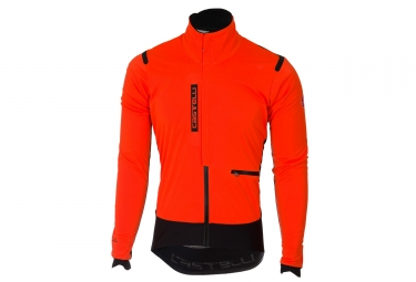 Veste coupe vent castelli alpha ros orange noir m
