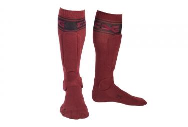 chaussettes de protection tsg riot rouge noir 35 38