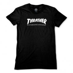 T shirt manches courtes femme thrasher mag logo noir m