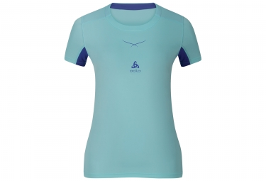 Women Short Sleeves Baselayer ODLO 2017 Ceramicool Blue