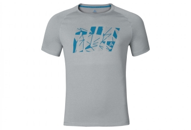 T shirt manches courtes odlo 2017 raptor gris s