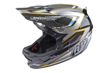 casque integral troy lee designs d3 carbon cadence mips argent noir 2017 s 54 55 cm