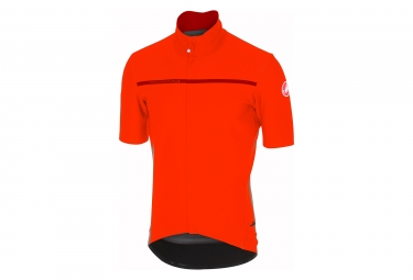 maillot manches courtes castelli gabba 3 orange l