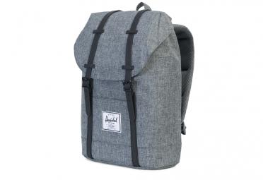 HERSCHEL Retreat Backpack 19.5L Raven Crosshatch Black Rubber
