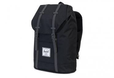HERSCHEL Retreat Backpack 19.5L Black Grey Synthetic Leather