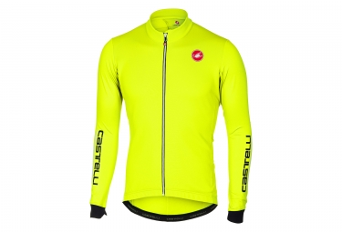 maillot manches longues castelli puro 2 jaune fluo s