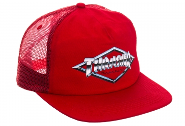 Casquette Thrasher Diamond Emblem Rouge
