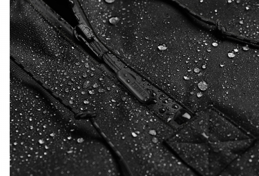 Veste Coupe-Vent Imperméable Chrome Skyline Windcheater Noir
