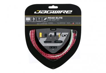 kit cable et gaine route jagwire road elite link pour derailleur rouge