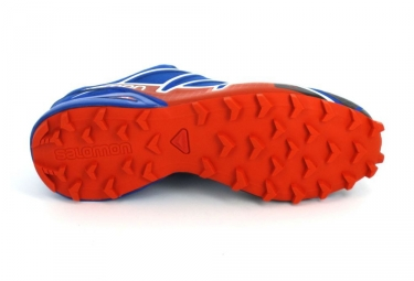 salomon speedcross 4 bleu orange 46 2 3