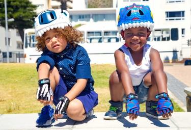 CRAZY SAFETY Casque Enfant PANTHERE Noir (49-55) 3 à 6 ans