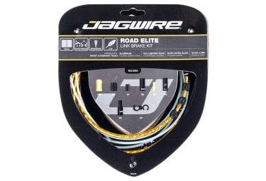 kit cable et gaine route jagwire road elite link pour freins or