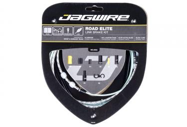 kit cable et gaine route jagwire road elite link pour freins argent