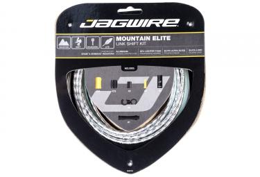 kit cable et gaine vtt jagwire mountain elite link pour derailleur argent