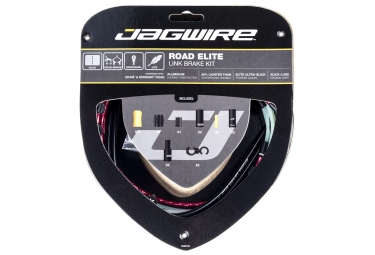 kit cable et gaine route jagwire road elite link pour freins rouge