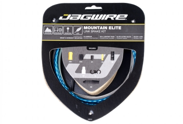Kit cable et gaine vtt jagwire mountain elite link pour freins bleu