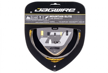 Kit cable et gaine vtt jagwire mountain elite link pour freins or