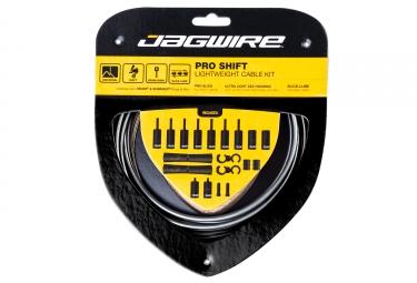 kit cable et gaine universel jagwire pro pour derailleur gris