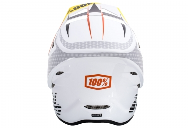 casque integral enfant 100 status d day blanc orange kid s 47 48 cm