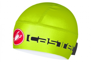 sous casque castelli 2017 viva thermo skully jaune fluo