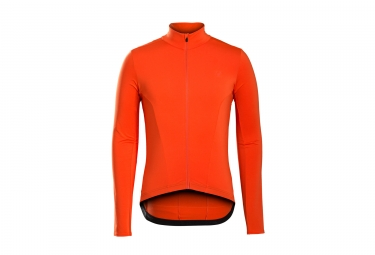 maillot manches longues bontrager 2017 velocis thermal orange m