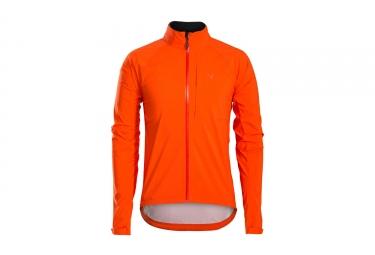 Veste impermeable bontrager circuit stormshell orange s