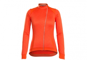 maillot manches longues femme bontrager vella thermal orange m
