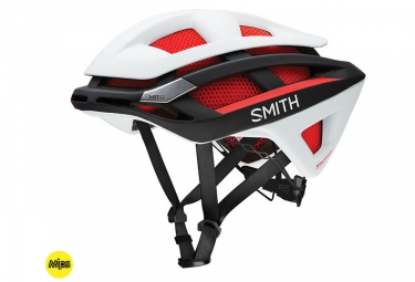 Casque smith overtake mips rouge blanc noir s 51 55 cm