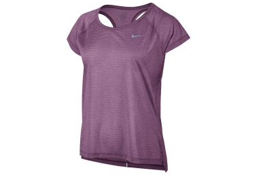 maillot manches courtes femme nike breathe violet s