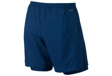 Short 2-en-1 Homme Nike Flex Bleu