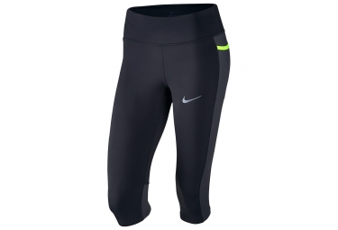Nike Power 3/4 Tight Black Yellow