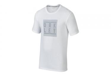 t shirt oakley o blur stack blanc xl