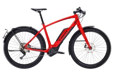 velo de ville electrique trek super commuter 8s rouge 2017 55 cm 173 187 cm