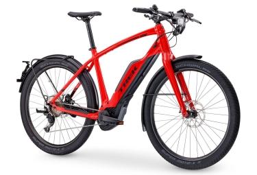 Vélo de Ville Électrique Trek Super Commuter + 8S Shimano Deore XT 11V Rouge 2017