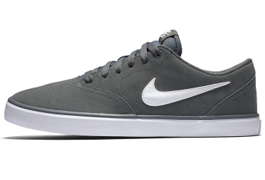 chaussures nike sb check solarsoft gris blanc 44