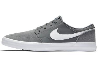 chaussures nike sb solarsoft portmore ii gris blanc 40 1 2