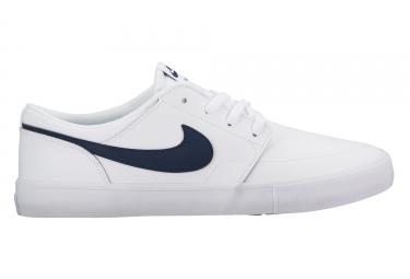 chaussures nike sb solarsoft portmore ii premium blanc 44 1 2