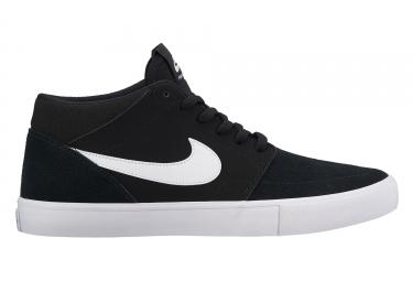 chaussures nike sb solarsoft portmore ii mid noir blanc 44