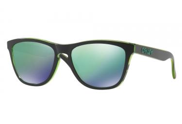 paire de lunettes oakley 2017 frogskins eclipse green jade iridium ref oo9013 a8