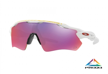 Paire de lunettes oakley radar ev path tour de france matte white prizm road ref oo9