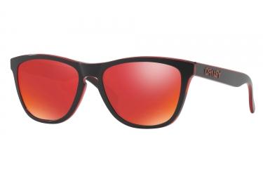 paire de lunettes oakley 2017 frogskins eclipse red torch iridium ref oo9013 a7