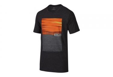 t shirt oakley tri oakley noir orange s