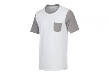 t shirt oakley 50 50 solid pocket blanc gris l