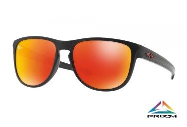 Paire de lunettes oakley sliver r matte black prizm ruby ref oo9342 15
