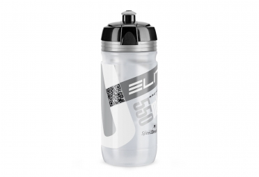bidon route elite corsa transparent gris 550ml