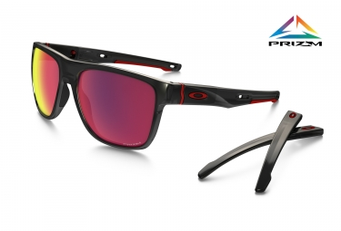 lunettes oakley crossrange xl black red red prizm road oo9360 0558