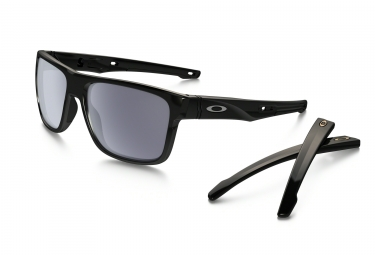 oakley lunettes crossrange polished black grey