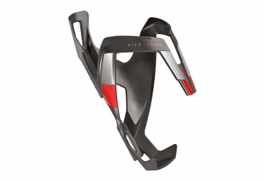 Portabotellas ELITE Vico Carbon Negro Mate Rojo