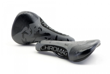 Selle CHROMAG Overture LTD Raven Blackout Graphic Noir Gris