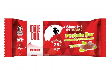 barre proteinee mulebar refuel fraise amandes 40g
